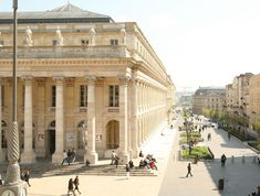 There's no shortage of beautiful, historic, & vibrant things to do in Bordeaux, a UNESCO World Heritage City. Here are the 15 top sights & attractions. Visit Bordeaux, La Dordogne, Cultural Architecture, World Cities, Beautiful Architecture, Baroque Architecture, Europe Travel Tips, Grand Hotel, Interior Exterior