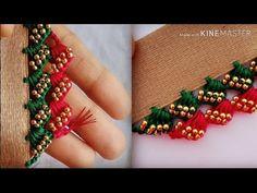 ಸೀರೆ ಕುಚ್ಚು tassels with beads designs tutorial for biginners. Saree Kuchu New Designs, Saree Tassels Designs, Wedding Saree Blouse Designs, Silk Saree Blouse Designs, Mirror Blouse Design, Hand Work Blouse Design, Simple Blouse Designs, Hand Embroidery Videos, Crochet Lace Edging