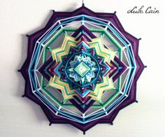 Mandala Ojo de dios / God's eye Colorful Life 12 by LubaCainArt, $240.00