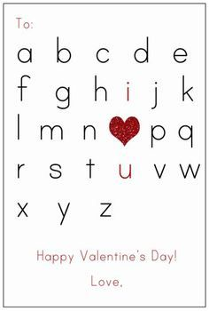 Ready to Print Valentine's Card