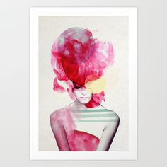Bright Pink - Part 2  Art Print by Jenny Liz Rome - $18.00