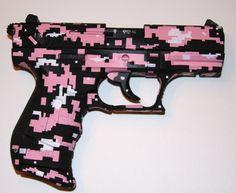 Digital Camo Pink Gun