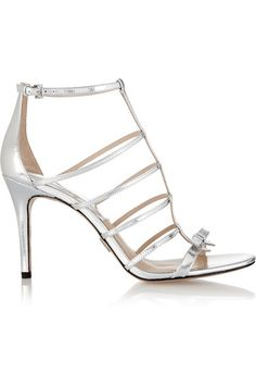 8e4ed32b45a2 Michael Kors Collection - Blythe bow-embellished metallic leather sandals
