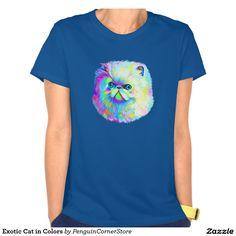 Exotic Cat in Colors Tee Shirt