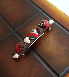 Hearts Chocolates And Strawberries Hair by EvasCreationsShop