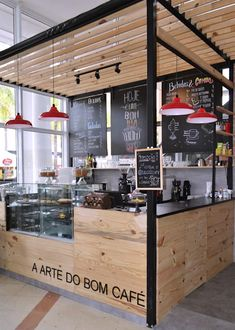 Commercial Architecture Design: Why Invest and What to Consider? Learn more about this cafeteria project and meet others! Bakery Shop Design, Coffee Shop Interior Design, Kiosk Design, Restaurant Interior Design, Cafe Design, Bistro Design, Food Stall Design, Cafeteria Design, Small Coffee Shop