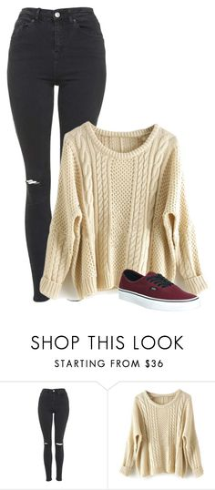 """""""Sin título #368"""" by hxrrybae ❤ liked on Polyvore featuring Topshop, Vans, Winter, outfit, vans and girl"""