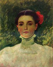 Duveneck Frank Portrait Maggie Wilson artiste tableaux huile sur toile peinture