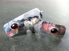 Garnet & Sterling Silver Earrings January by GlassRiverJewelry