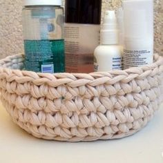 Patrón Cesto de trapillo para el baño Mandala Art, Basket, Moana, Bathroom Baskets, Basket Weaving