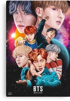 BTS DNA Fan Art Canvas Print