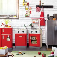 Planned Toys kitchen set at Land of Nod