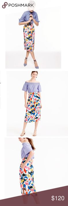 🆕 JCrew Pintucked Midi Skirt NWT- JCrew Pintucked midi skirt in this beautiful and colorful morning floral print is one of my favorites. The print is BOLD and  Beautiful on a very substantial linen fabric. It  sits at the waist has slits on the side and is designed with pockets. It is also fully lined. New with tags in perfect condition. All reasonable offers considered. 🚫NO TRADES🚫 J. Crew Skirts Midi