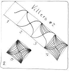 Tangle pattern: Villers #2