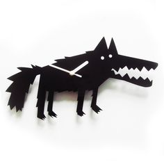 Big Bad Wolf acrylic wall clock
