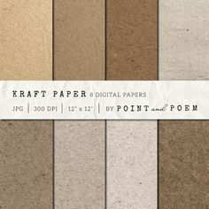 Check out Kraft Paper Texture Pack - Natural by Point and Poem on Creative Market