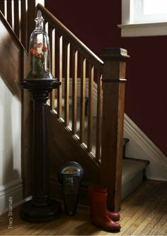 Love this stair rail treatment! from Decorology