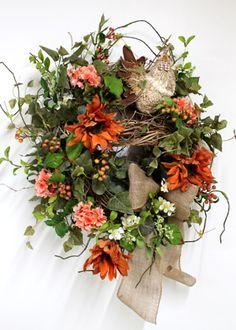 Adorable Country Rooster, Luxury Front Door Wreath