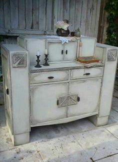 Vintage drink cabinet in Annie Sloan