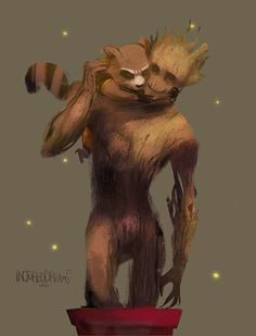 11 Pieces Of Fantastic 'Guardians Of The Galaxy' Groot Fan Art. How can we possible care this much about a talking tree??