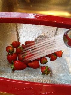 How to: Clean Non-Organic Strawberries & Flash Freezing Tips