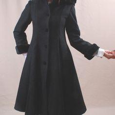 AMAZING Hooded Wool Coat Vintage Winter Coat by paramountvintage
