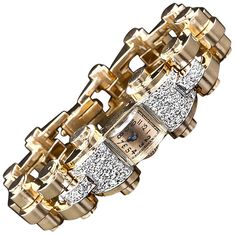 French Retro Diamond Watch