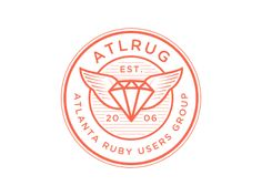 logo for ATLRUG, a non-profit organization of individuals interested in developing, promoting, fostering, strengthening, and improving the Ruby programming language and Ruby community.