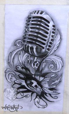 Shadowart Tattoo Sketch