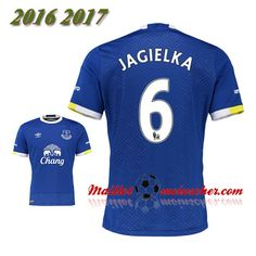 Les Nouveaux Maillot Everton FC JAGIELKA 6 Domicile Bleu 2016 2017: fr-moinscher