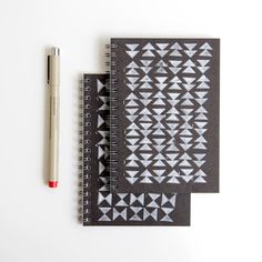 SALE hand stamped mini notebook triangle by cutiepiecompany, $6.25