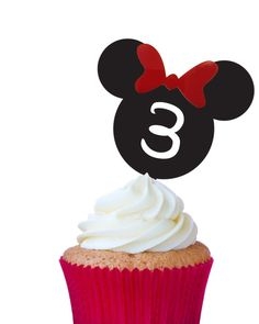 ideas about Minnie Mouse Cupcake Toppers