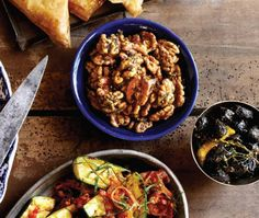 Spiced Walnuts & Olives Recipe | from Cindy's Supper Club cookbook |House & Home