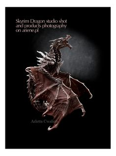 I'm proud of this photo, the way light is used to expose most value of the Alduin dragon from Skyrim game, collectors edition figure, fantasy. Toy on black background, in studio shot, photography by Arletta Cwalina. Use the link to go to full portfolio of things. Skyrim Game, Skyrim Dragon, Hand Molding, Studio Shoot, Photography Website, New Image, Black Backgrounds, Fantasy, News