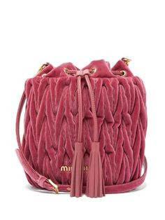 Shop our edit of women's designer Bags from luxury designer brands at MATCHESFASHION Miu Miu Handbags, Purses And Handbags, Miu Miu Glasses, Miu Miu Matelasse, Mk Bags, Cute Purses, Crochet Purses, Quilted Bag, Clutch Wallet
