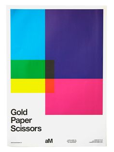 Gold Paper Scissor - Helvetica font