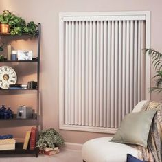 Textured Grain 3 1/2 Inch Faux Wood Vertical Blinds 84 In...
