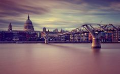 This is the shot from my resent trip in London with one of my  students Padma Inguva from whom I learned a lot.  Millennium bridge leading towards St. Paul's cathedral.