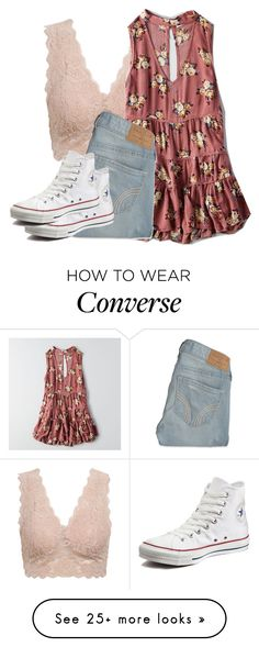 """""""Untitled #2388"""" by laurenatria11 on Polyvore featuring American Eagle Outfitters, Hollister Co. and Converse"""