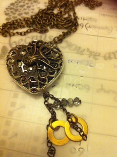 "STEAMPUNK ""big hearted octopus"" necklace on Etsy, £13.99"