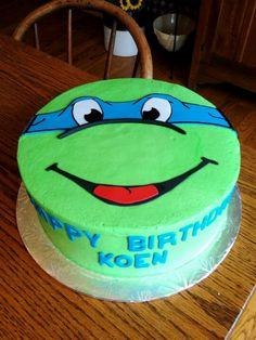 Ninja Turtle cake @Mark Van Der Voort Van Der Voort
