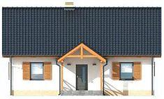 Elewacja frontowa projektu Olimpia projekt domu mieszkalnego Shed, Outdoor Structures, Cabin, House Styles, Home Decor, House, Decoration Home, Room Decor, Cabins
