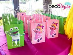 Girls Birthday Party Themes, Baby 1st Birthday, 4th Birthday Parties, Birthday Ideas, Muppet Babies, Baby Party Bags, First Birthdays, Toddler Activities, Party