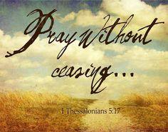 I Thessalonians 5:17
