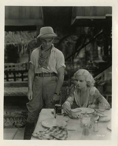 "Jean Harlow and Clark Gable still from ""Red Dust."""