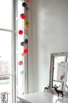 kids room inspiration   cotton ball lights