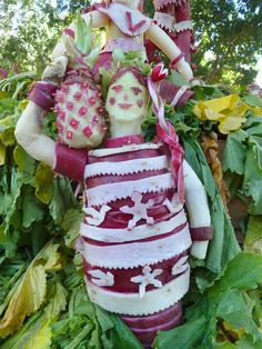 a carving from Noche de las Rabanas, or Night of the Radishes