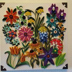 Quilled flowers. Candice Jones