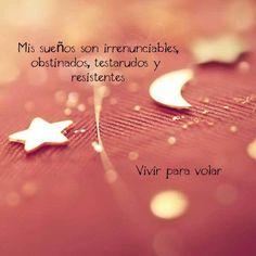 〽️ Mis sueños son irrenunciables, obstinados, testarudos y resistentes...