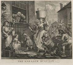 The Enraged Musician, William Hogarth, Date Unknown